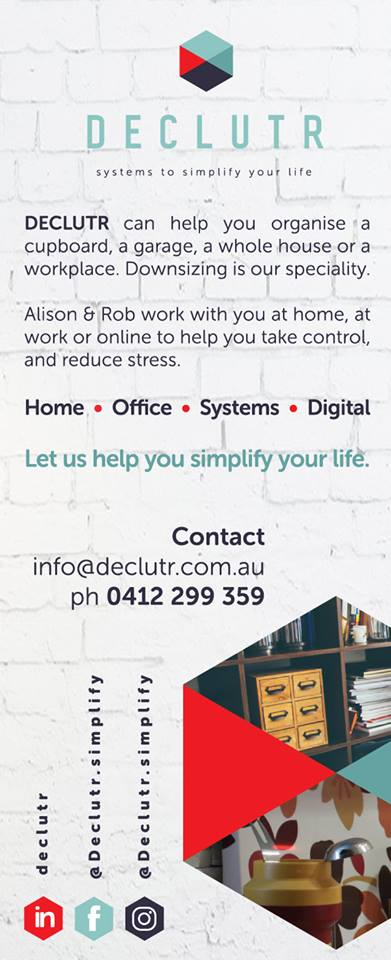 DECLUTR, professional organiser and decluttering in Canberra